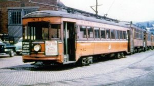 Cropped West Penn Rys 832 At Connellsville Pa Early 1950S